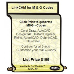 LinkCAM for M& G Codes